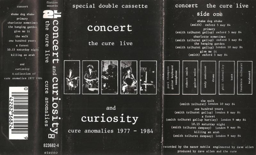 Concert And Curiosity: The Cure Live And Cure Anomalies 1977-1984