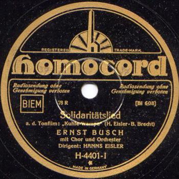 Ernst Busch – Solitaritätslied