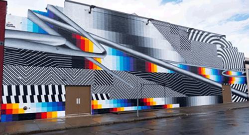 NY futuristic graffiti