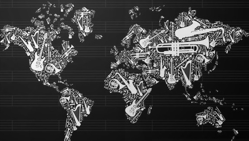 World map music
