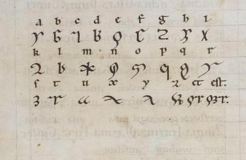 Δείγμα της Lingua ignota