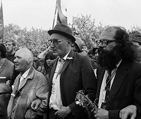 Allen Ginsberg -  William Burroughs - Jean Genet [Chicago, 1968]