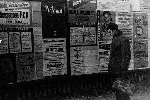 Postwar street scene, Kassel, 1948, 2012 by Jonas Mekas_