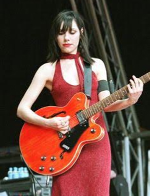 PJ Harvey Red Dress