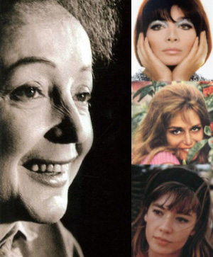 Edith, Juliette, Dalida, Francoise