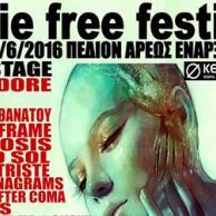 Indie Free Festival το Σάββατο 11/6/2016 στο Πεδίον του Άρεως